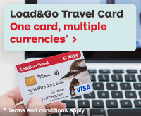 Australia Post Load & Go Travel card