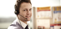 Male customer contact centre consultant