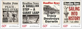 Headline news on stamps