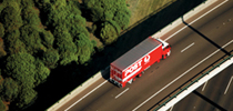Australia Post truck on the road