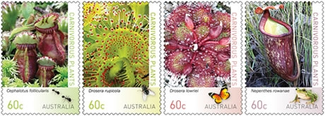 Unique plants stamp issue