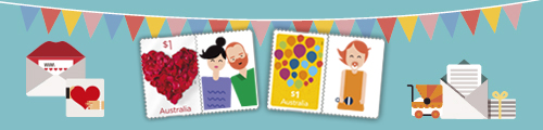 Link to Personalised Stamps page on Online Shop