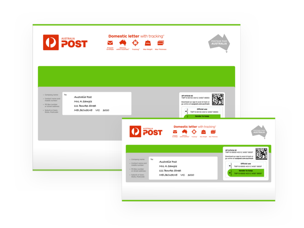Domestic Letter With Tracking Australia Post