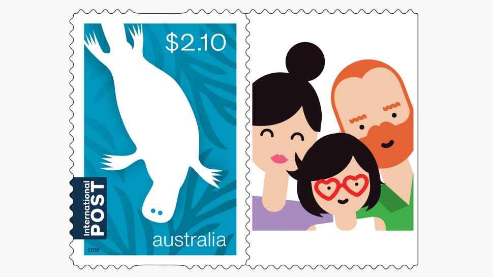 personalised stamps australia post