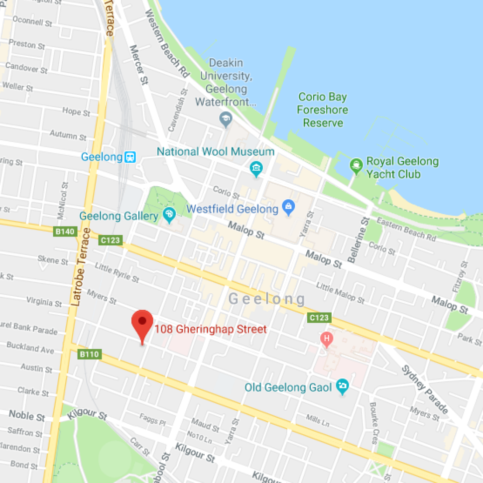 Map of the Small Business Hive location in Geelong