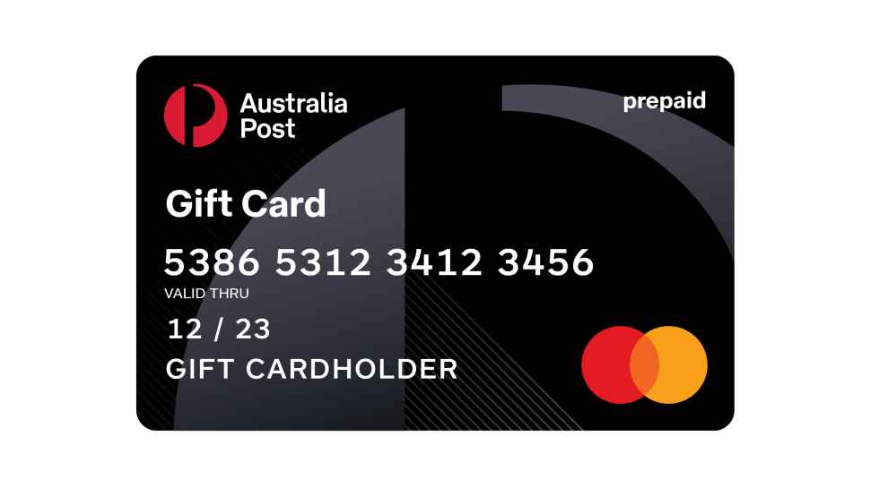 Australia Post Gift Card By Mastercard Australia Post