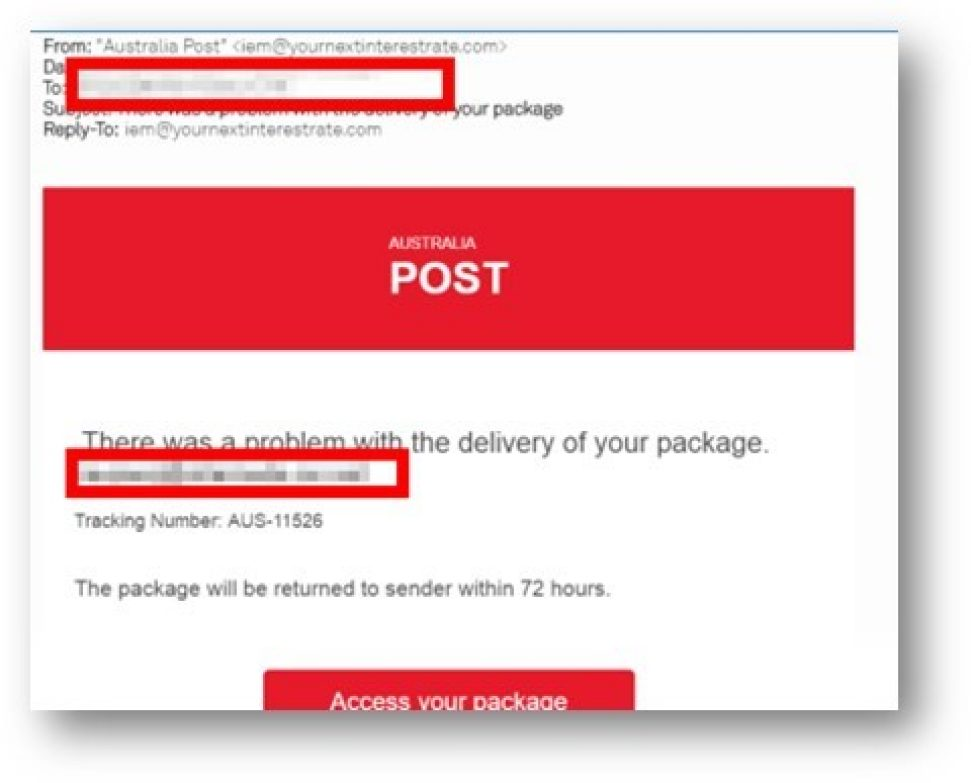 australia post tracking number check
