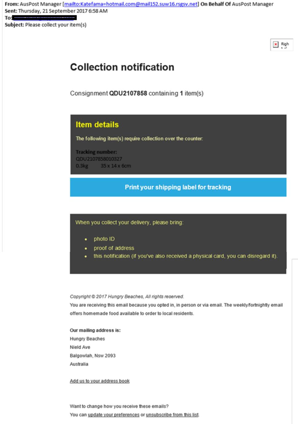 Scam alerts - Australia Post