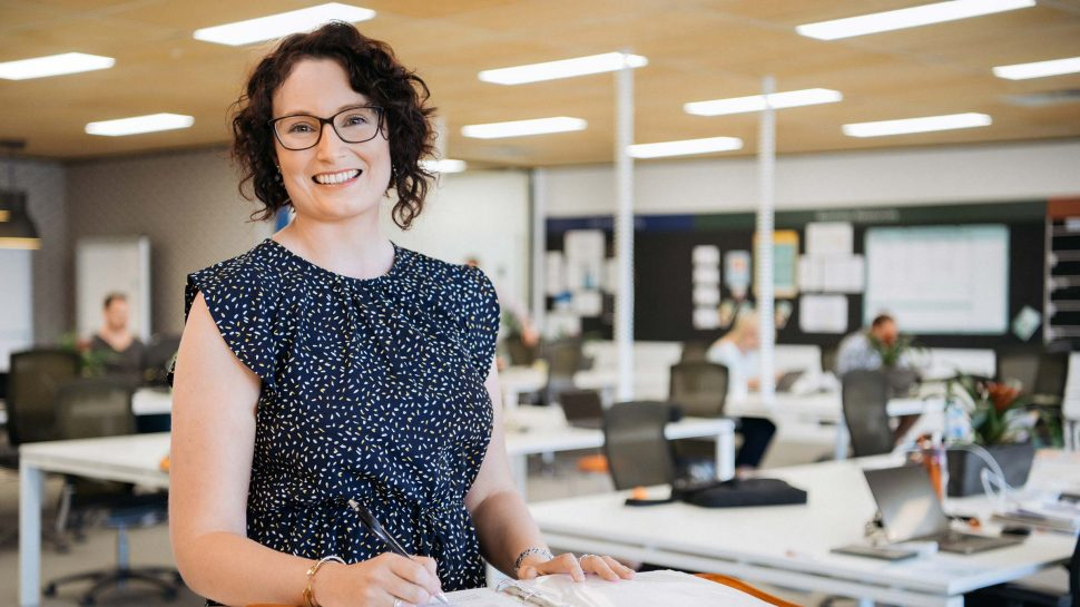 Photo of Anna Treloar standing in the Small Business Hive