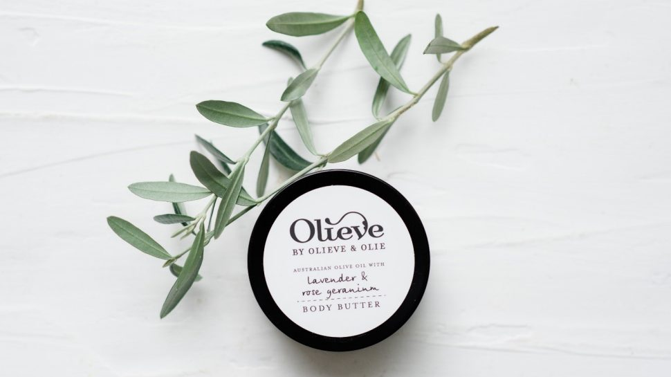 Product photography showing one of Olieve and Olie's natural body butters.