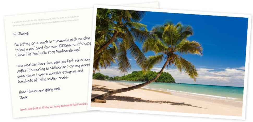 Postcards App Australia Post