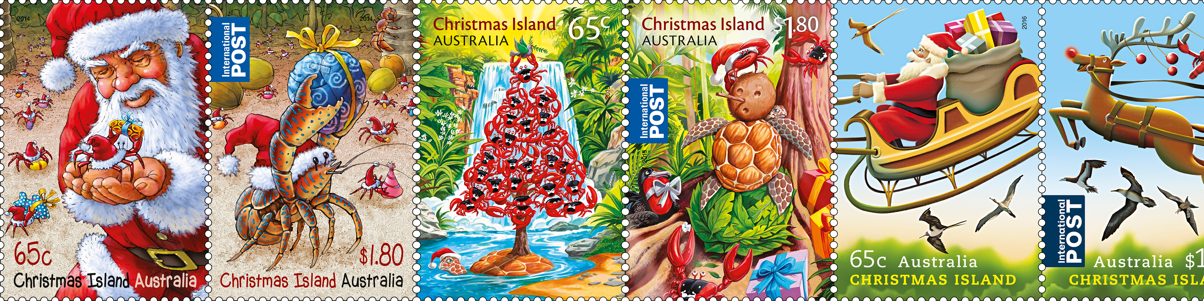 Christmas Island Australia.Christmas Island Christmas Stamps Through The Years