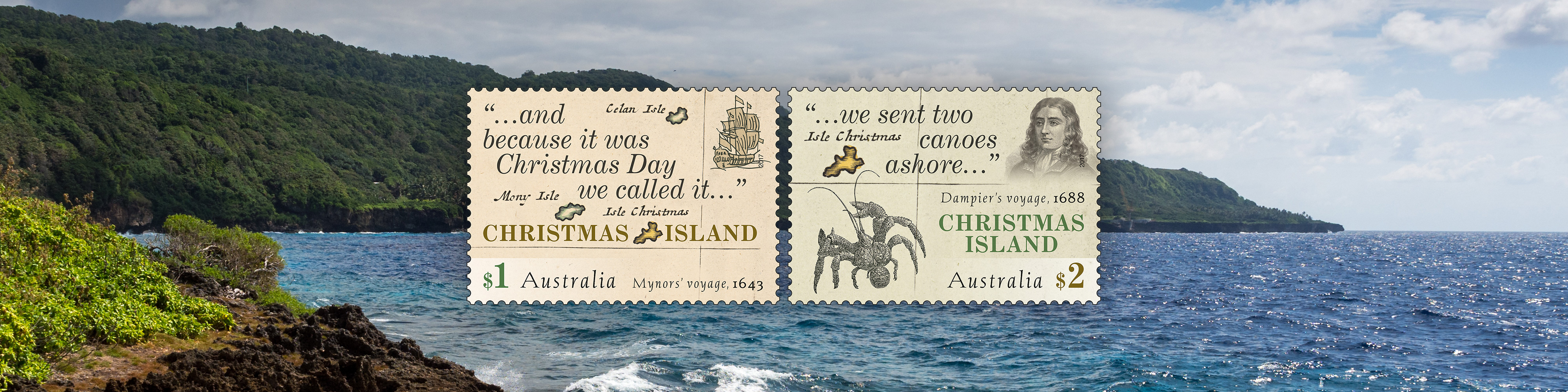 Christmas Island Australia.The Naming Of Christmas Island Australia Post