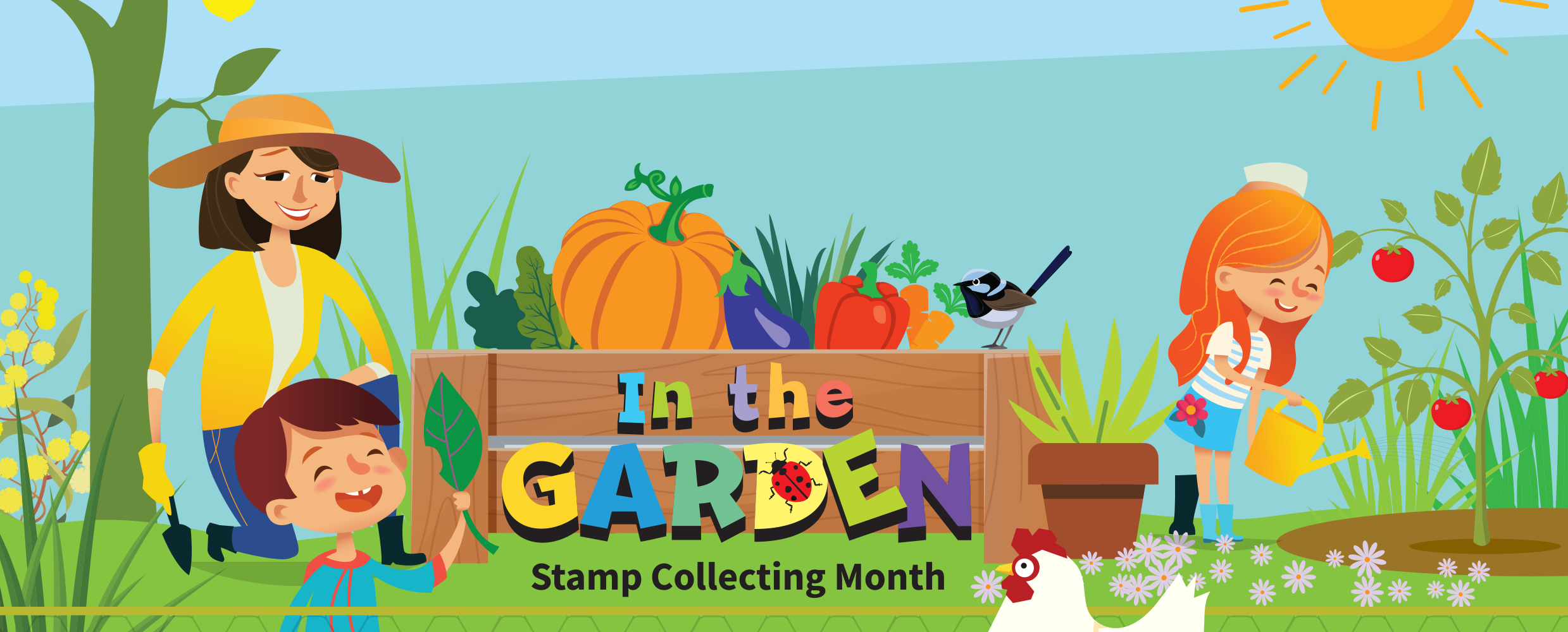 Explore our sustainable garden during Stamp Collecting Month 2019