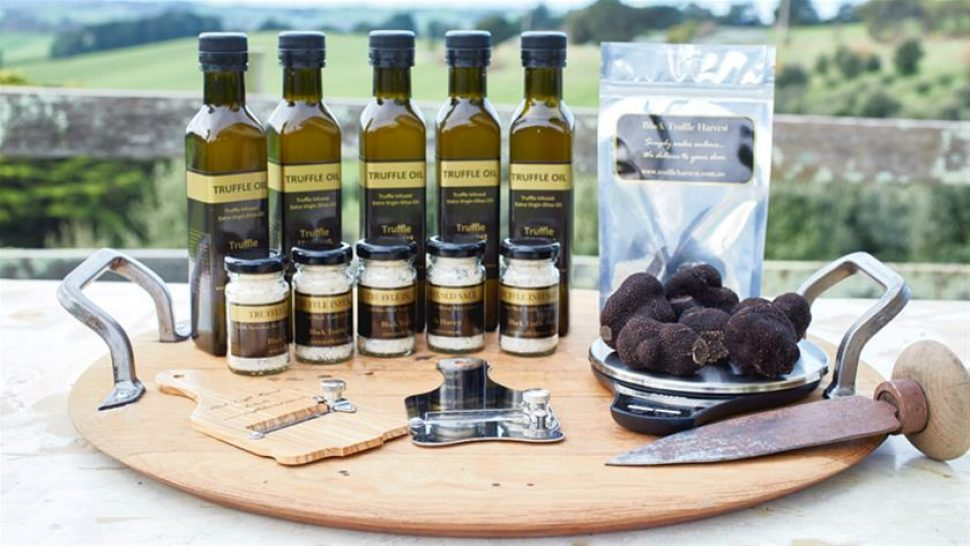 Selection of truffle oils and other products