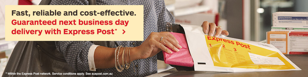 Fast, reliable and cost-effective. Guaranteed next business day delivery with Express Post*