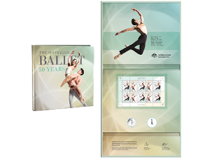 Australian Ballet 50 Years Stamp and Coin Folder product photo