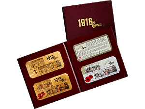 Centenary of WWI gold minisheet collection product photo