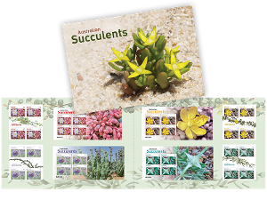 Australian Succulents minisheet and gutter collection product photo