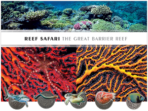 Reef Safari medallion and 3D minisheet collection product photo