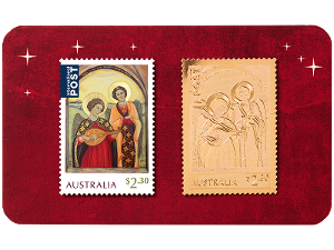 Angel Christmas gold stamp in card product photo