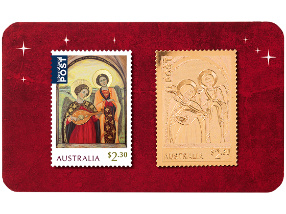 Angel Christmas gold stamp in card product photo Internal 1 DETAILS