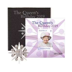 Queen Elizabeth II Diamante Brooch and Minisheet Collection product photo
