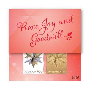 Christmas Gold Stamp Cards - Star product photo