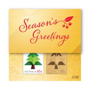 Christmas Gold Stamp Cards - Tree product photo