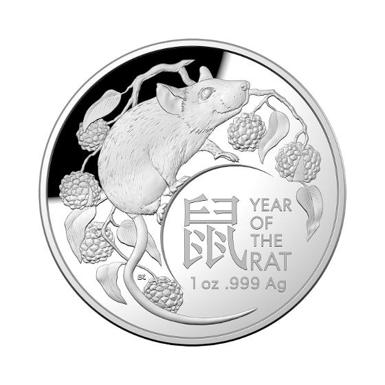 2020 LNY-Year of the Rat $5 1oz Silver Proof Domed Coin product photo Internal 3 DETAILS