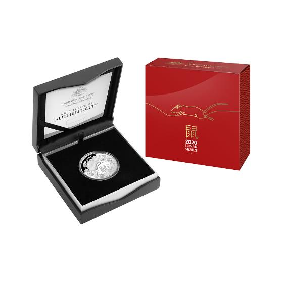 2020 LNY-Year of the Rat $5 1oz Silver Proof Domed Coin product photo Internal 4 DETAILS