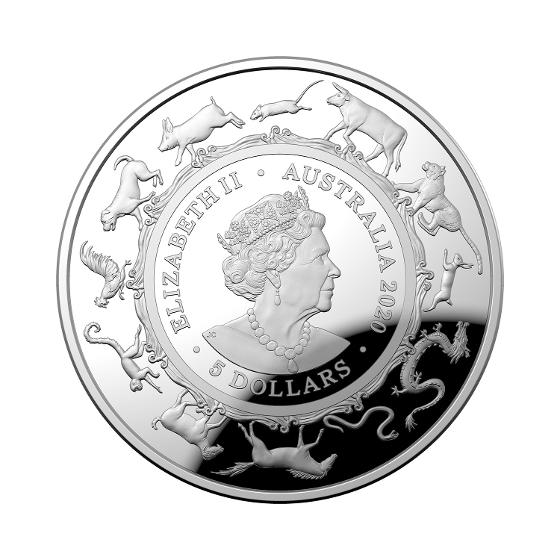 2020 LNY-Year of the Rat $5 1oz Silver Proof Domed Coin product photo Internal 5 DETAILS