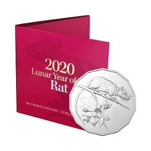 2020 LNY-Year of the Rat 50c Tetra-Decagon Uncirculated Coin product photo