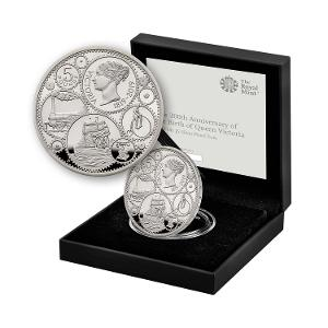 200th Anniversary of the Birth of Queen Victoria UK £5 Silver Proof Coin product photo