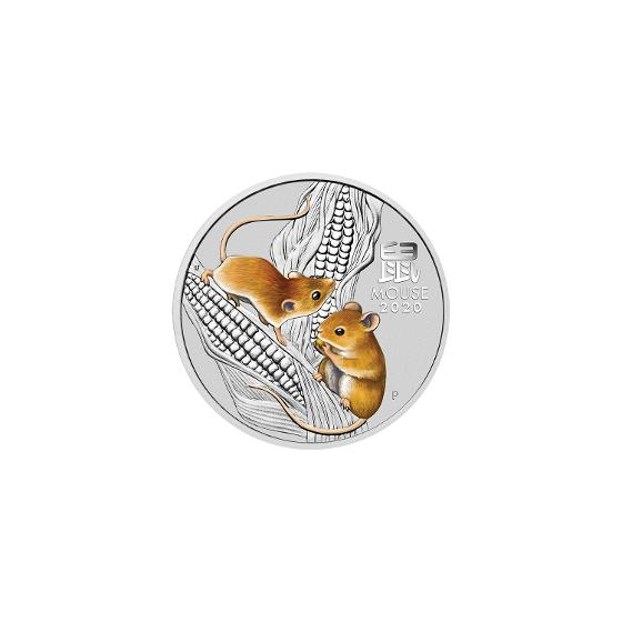 2020 Year of the Mouse 1/2oz Silver Bullion Coin product photo Internal 2 DETAILS
