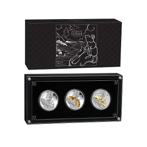 Australian Lunar Series III 2020 Year of the Mouse 1oz Silver Trio product photo