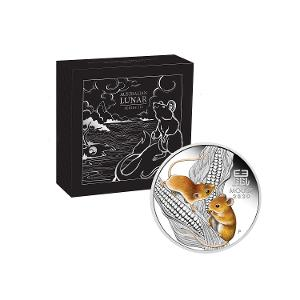 Australian Lunar Series III 2020 Year of the Mouse 1oz Silver Proof Coloured Coin product photo