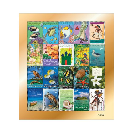 25 Years of Australia Post Cocos (Keeling) Islands Stamp Collection product photo Internal 2 DETAILS