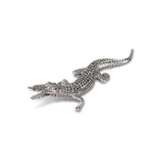 Hand-crafted Crocodile Pewter figurine product photo Internal 1 DETAILS