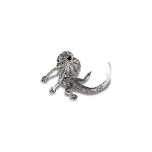 Hand-crafted Frilled Neck Lizard Pewter figurine product photo