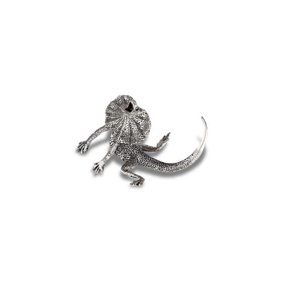 Hand-crafted Frilled Neck Lizard Pewter figurine product photo Internal 1 DETAILS