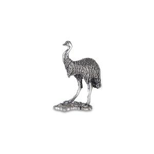 Hand-crafted large Emu Pewter figurine product photo