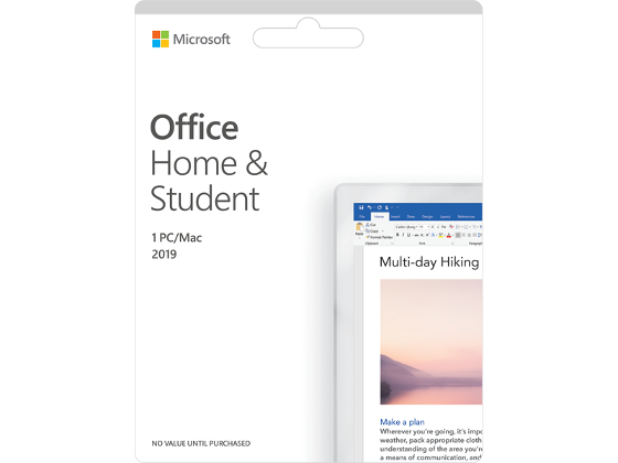 Microsoft Office Home and Student 2019 product photo Internal 1 DETAILS