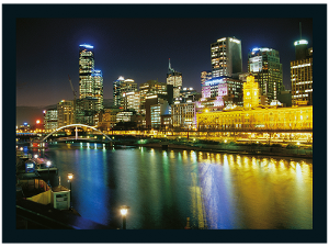 Melbourne at night product photo