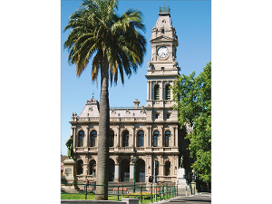 The former Bendigo Post Office postcard product photo