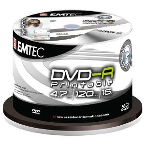 Emtec DVD-R Printable 50 Pack product photo