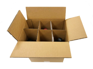 6 Bottle Wine Box - 5 pack product photo