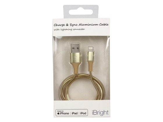 iBright Aluminium Lightning Cable - Gold product photo Internal 1 DETAILS