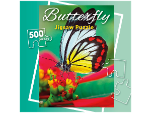 Butterfly 500 piece jigsaw puzzle product photo