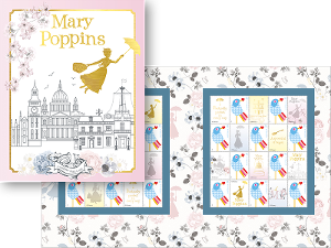 Mary Poppins stamp pack product photo